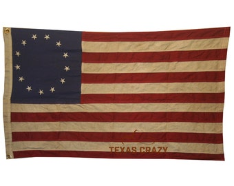 Betsy Ross Flags 5 x 8 Foot Antiqued Cotton 1776 Historical Flag Decor