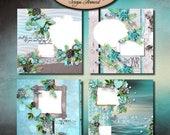 ON SALE Digital Scrapbook: Quick Page, Sea Kissed