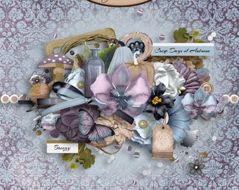 Scrapbooking Digital: Elements pack, Efflorescence