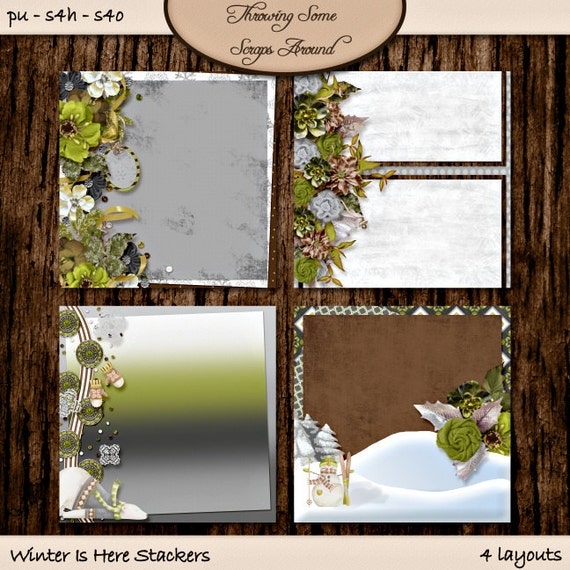 Digital Scrapbooking, Quick Page Stackers: Winter Is Here