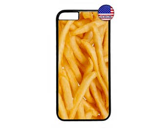 New French Fries Funny Food Case Cover for iPhone 4 4s 5 5s  5C 6 6s 6 Plus 7 7 Plus iPod Touch 4 5 6 case Cover