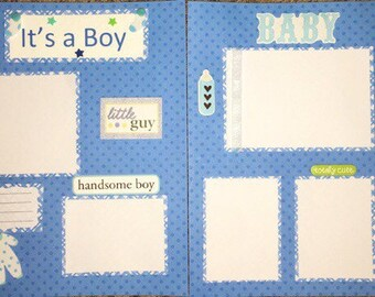 12x12 premade scrapbook pages~ It's a Boy