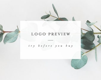 Logo Preview | Sample ONE Logo Design | Try Before You Buy