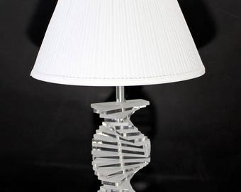 Mid Century Modern Lucite Acrylic Helix Stacked Spiral Table Lamp Springer Era