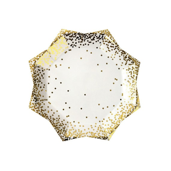 Holiday Entertaining Holiday Paper Plates Gold Christmas Plates Confetti Plates Star Shaped Hanukkah Plates Gold Hanukkah entertaining from ...  sc 1 st  Etsy Studio & Holiday Entertaining Holiday Paper Plates Gold Christmas Plates ...