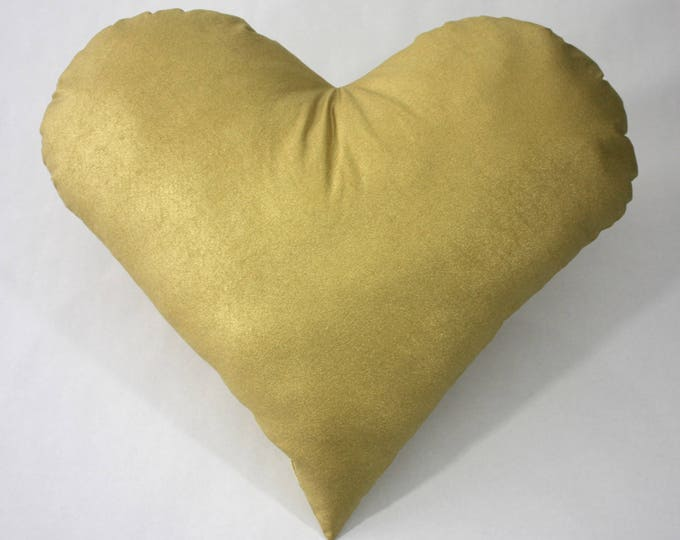 Gold heart pillow--Modern pillow--Heart nursery pillow