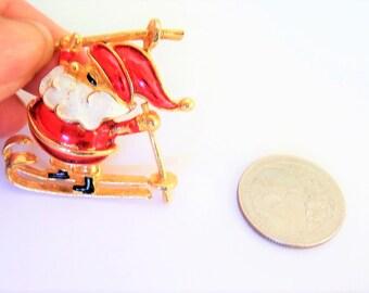 Vintage  Santa Brooch / Pin /  Christmas Brooch / Pin / Corel  Brooch / Pin / Christmas Brooch / Pin / Christmas Jewelry /
