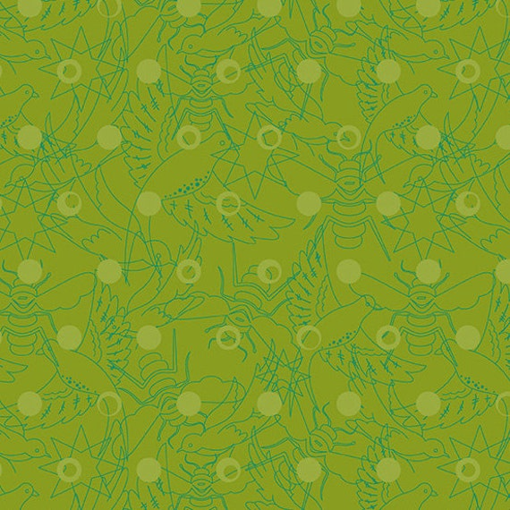 LINK Pine Green Sunprint 2017 A-8484-G Alison Glass Sold in 1/2 yd increments