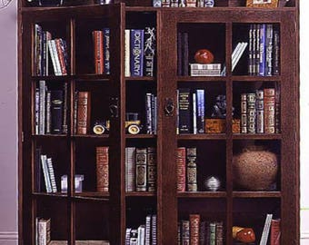 Mission Style Bookcase Woodworking Plans