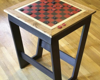 Checkerboard Game Table Woodworking Plans