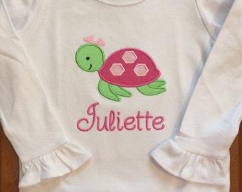 Girl Sea Turtle Shirt or Baby Bodysuit