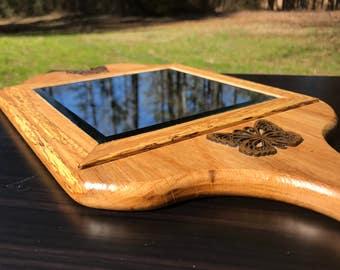 Handmade wooden Hand Mirror