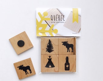 QUEBEC - Wooden Magnets