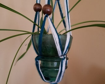 Antique Glass Insulator Hanging Planter