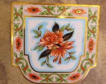 Vintage English Floral Tid Funky Lid