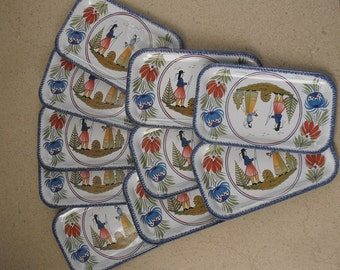 French  tin trays, by Massily France ,french  tin trays ,french drink trays .