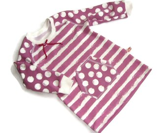 Dress tunic sweat organic cotton bag girl 92 98 ready for shipment