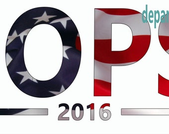 OOPS 2016 election sticker