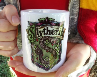 Harry potter inspired slytherin mug