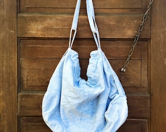 Vintage 90's Light Blue Denim Slouch Purse