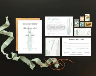 Desert Wedding Invitation Set - Cactus Invitation Set
