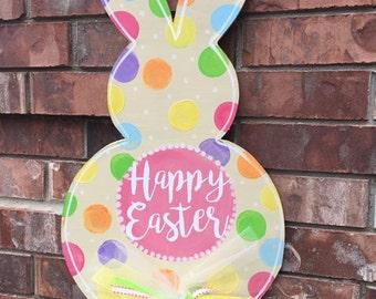 Easter Door Hanger, Easter Bunny Door Hanger, Easter Wreath, Easter Bunny Wreath, Spring Door Hanger, Easter Decor, Spring Wreath