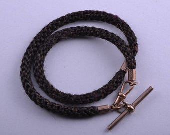 Hair And Gilt Victorian Watch Chain (943p16)