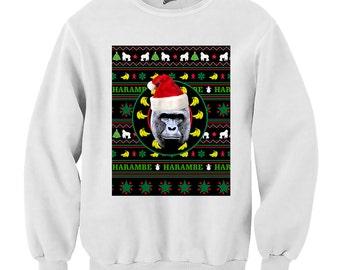 Harambe Black Christmas Sweater