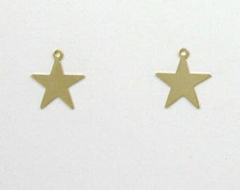 14k Gold Filled Star Charms, Set of 2 - stc-GF123
