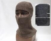 Hand Knit Chunky Pure 100 Cashmere Helmet / Balaclava / Ski Mask