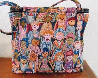 Vintage 'Toby Weston' Handbag MADE IN 'Woodland Hills, California, USA' - So Cute!!