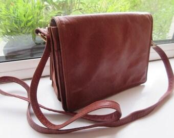 Vintage 1970's 'Visconti' Mid Tan Leather Handbag - Lovely!!
