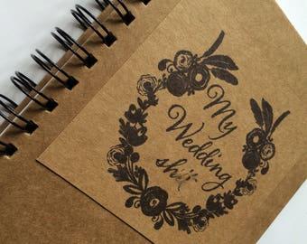 Wedding Notebook, Stationery Notepad A5
