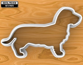 Longhaired Dachshund Dog Cookie Cutter, Selectable sizes.
