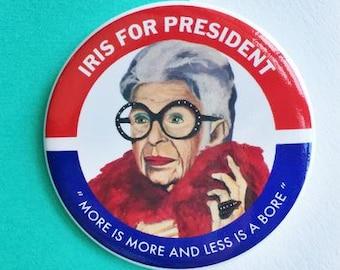Iris for President Button