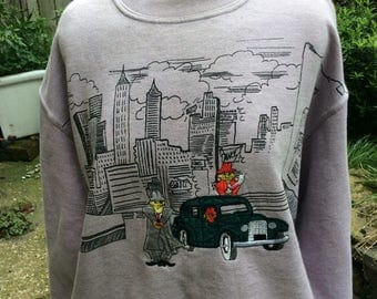 Vintage lilac cartoon sweatshirt
