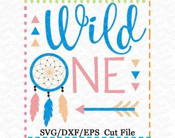 Wild One SVG Cutting File, first birthday svg, 1st birthday svg, birthday svg, tribal birthday svg, arrow birthday svg cut file