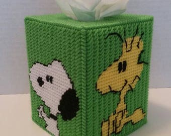 Peanuts Tissue Box Cover