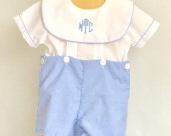 Items similar to Baby boy monogrammed bubble ...