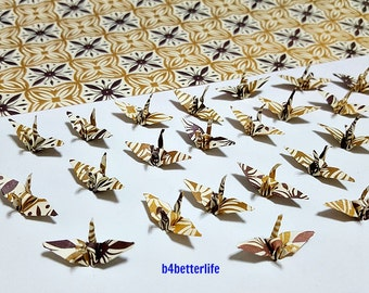 "Lot of 100pcs Batik Design 1-inch Origami Cranes Hand-folded From 1""x1"" Square Paper. (WR paper series). #FC1-40."