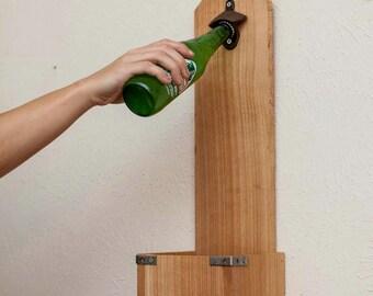 Cedar Bottle Opener + Bottle Opener + Bottle Openers + Handy Bottle Openers + Beer Bottle Opener + kitchen Decor + Gift for him +Patio Decor