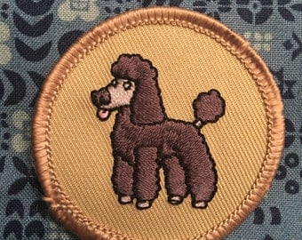 Black Poodle Patch (1) - BSA dog lover rescue mixed breed kjallraven Hershel