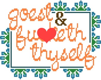 Goest and F**keth Thyself - Cross Stitch Pattern - Instant Download
