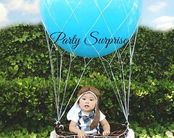 "Balloon Net 36"" and 16"",Hot Air Balloon Net Centerpiece,Balloon Net Photo Shoot,Wedding Bat Mitzvah Gala Centerpiece"