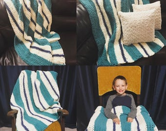 Crocheted Chunky Blanket
