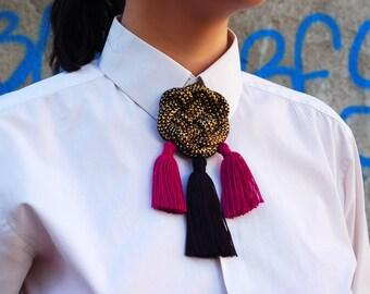 Tassel Brooch / Boho Jewelry / Elegant Jewelry / Pin / Gifts for her / Celtic Knot / Chanel Brooch / Brooch Pin / Brooch Bouquet / Hippie
