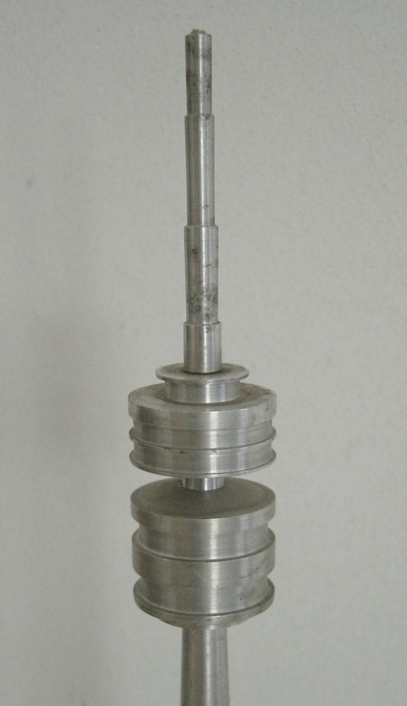 vintage 70s aluminium sculpture tv tower olympiaturm. Black Bedroom Furniture Sets. Home Design Ideas