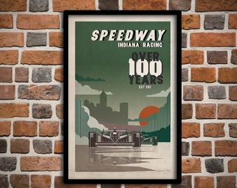 Speedway, Indiana Poster
