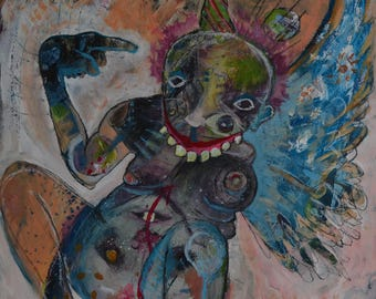 """Print of Painting """"Party Angel"""""""