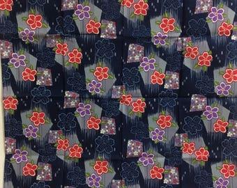 Furoshiki, Sakura,  japanese furoshiki headscarf, wrapping cloth, japanese tapestry, Free shipping Wall Hanging, furoshiki gift